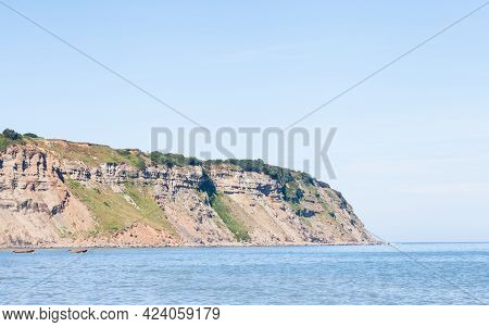 Robin Hood's Bay.  The View Looking Out To Sea From Robin Hood's Bay.  The Bay Is In The North York