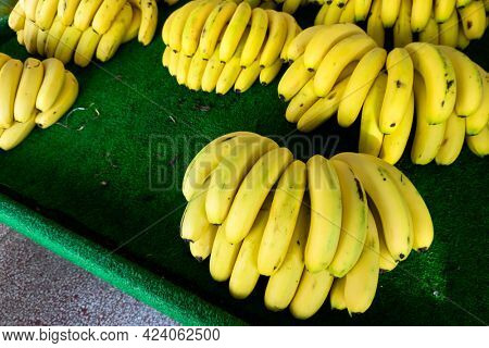 group of bananas at the traditional marketplace in Taiwan