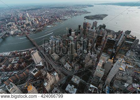 Manhattan And Brooklyn In New York City