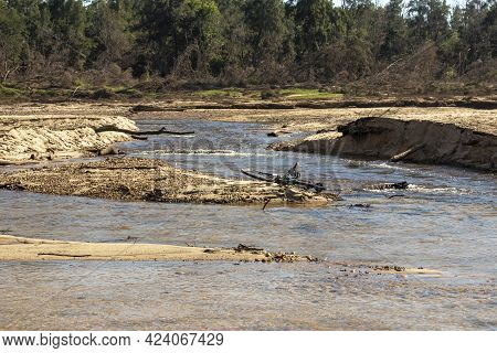 Photograph Of A Bicycle Lying In The Grose River After Severe Flooding In Yarramundi Reserve In The