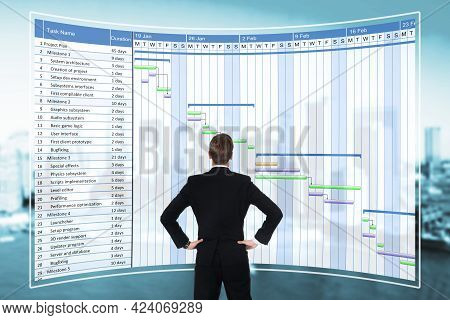 Checking Digital Gantt Agenda Schedule Calendar Reports