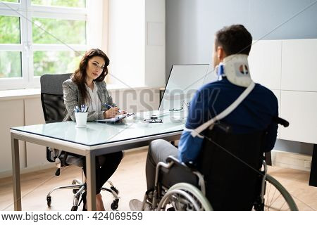 Worker Injury And Disability Compensation. Social Security Claim