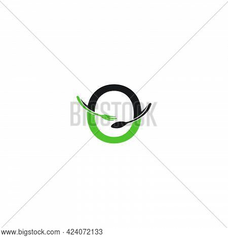 Letter O With Fork And Spoon Logo Icon Design Vector Illustration