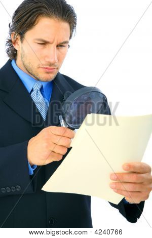 Young Investigator Looking At Folder