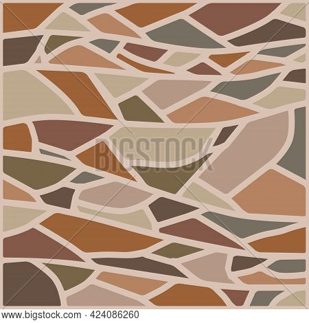 Stone Texture, Background Image Of Stones Of Different Colors. Vector Illustration. Vector.