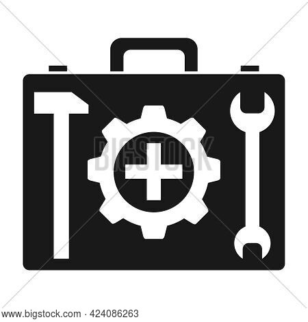 Suitcase Icon With Tools, Technological Suitcase. Vector Illustration. Vector.