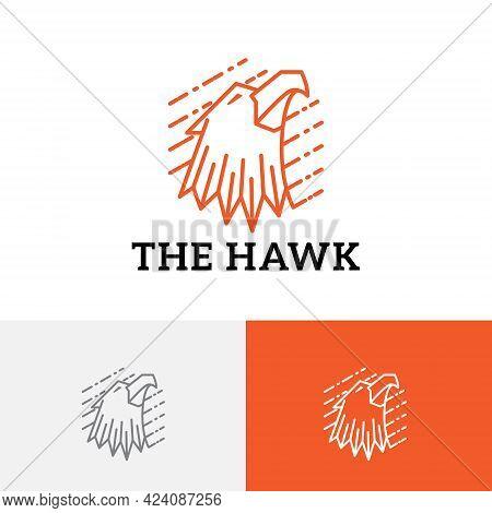 Hawk Eagle Falcon Head Predator Bird Vintage Classic Logo