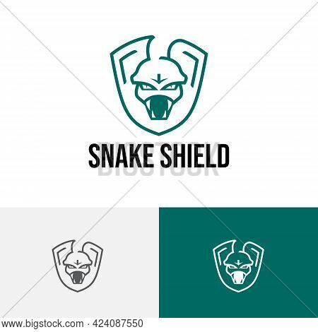 Snake Fangs Serpent Shield Poisonous Animal Trick Tactics Strategy Logo