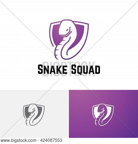 Snake Serpent Shield Poisonous Animal Tactics Strategy Game Esport Logo