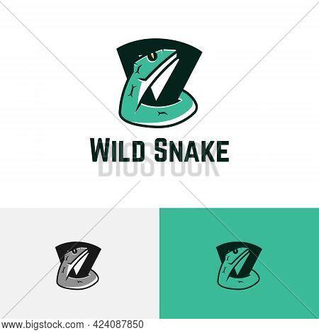 Venomous Poisonous Snake Serpent Dangerous Wild Animal Logo 03