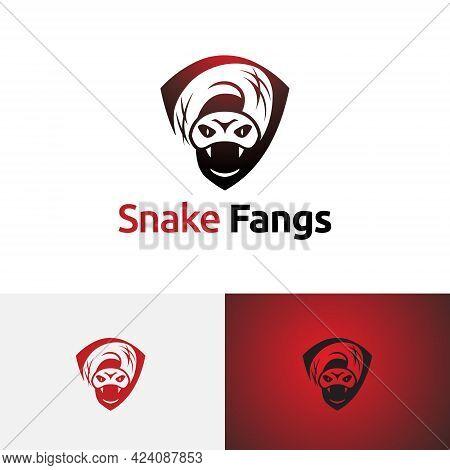 Venomous Poisonous Snake Serpent Fangs Dangerous Wild Animal Logo