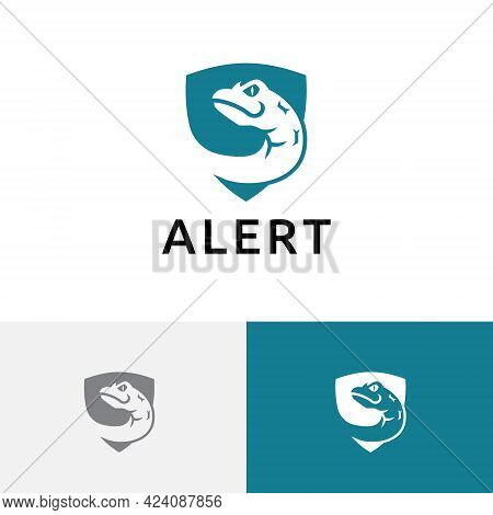 Venomous Poisonous Snake Serpent Shield Dangerous Wild Animal Logo