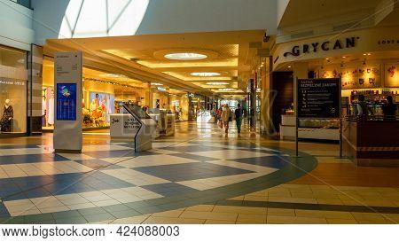 Katowice. Poland 11 May 2021. Interior Of Retail Centre Store In Silesia City Center Katowice. Peopl