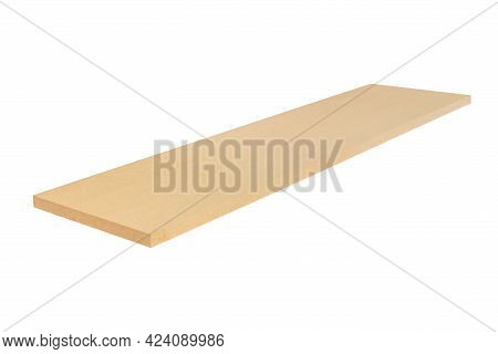 Wooden Thermal Insulation Board Isolated On A White Background - Packshot