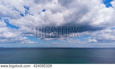 Dark Stormy Sky Over The Black Sea, Bulgaria.