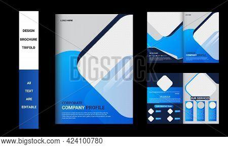 Brochure Template Design And Corporate Bifold Brochure, Corporate Brochure Template, Company Profile