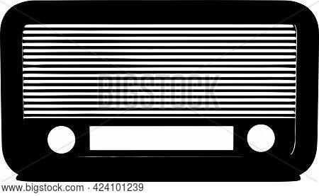 Radio Icon On White Background , Web, Website, Wireless