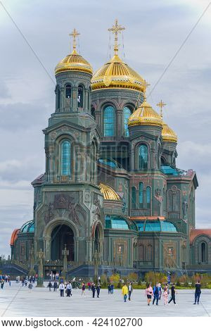 Moscow Region, Russia - August 27, 2020: The Main Temple Of The Armed Forces Of The Russian Federati