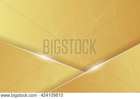 Abstract Orange Background With Lines And Shine Effect. Vector Illustration