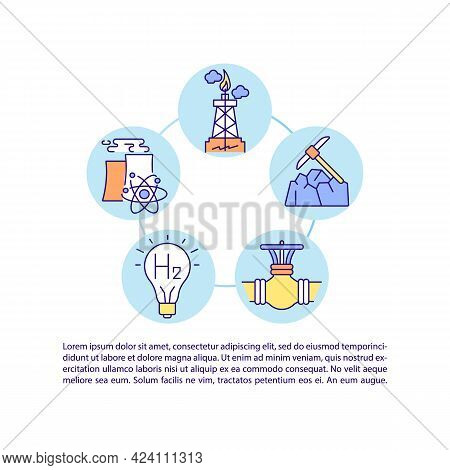 Versatile Application Of Hydrogen Concept Line Icons With Text. Ppt Page Vector Template With Copy S