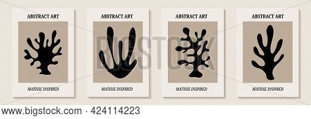 Matisse Inspired Modern Posters With Abstract Branches . Set Of Modern Wall Art. Contemporary Minima