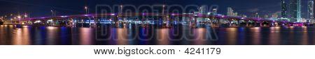 Miami Harbor Night Panorama