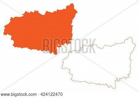Province Of Leon (kingdom Of Spain, Autonomous Community Castile And Leon) Map Vector Illustration,