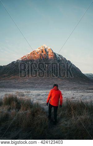 Hiking at a Glen Coe in Scotland