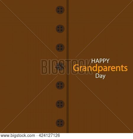 Grandparents Day On Sweater Background, Vector Art Illustration.