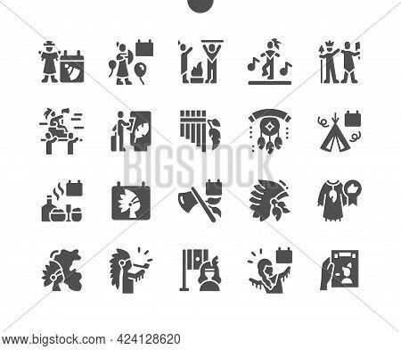 Indian Day In Peru 22 June. Performances. Calendar. Twenty Second Of June. Indian Hat. Musical Instr