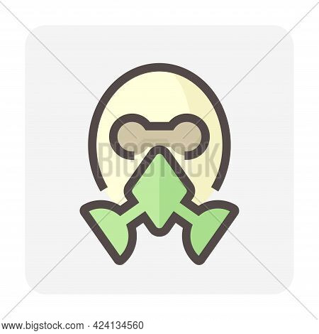 Air Purifying Respirator Or Gas Mask Icon. That Is Personal Protective Equipment (ppe) Consist Of N9