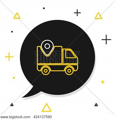 Line Delivery Tracking Icon Isolated On White Background. Parcel Tracking. Colorful Outline Concept.