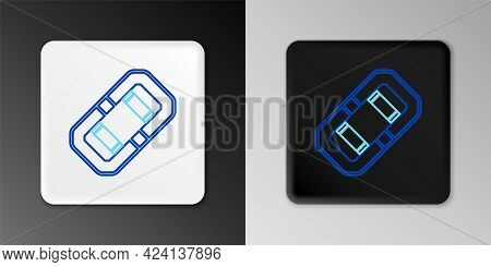 Line Rafting Boat Icon Isolated On Grey Background. Inflatable Boat. Water Sports, Extreme Sports, H
