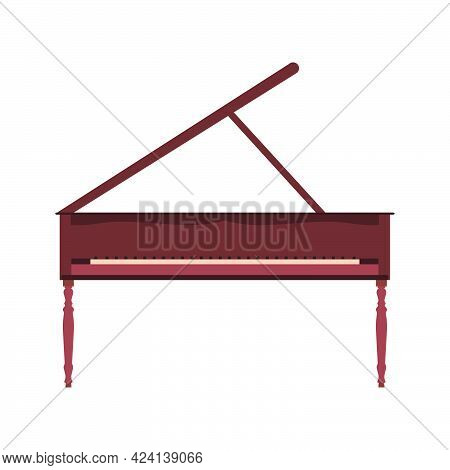 Grand Piano Vector Illustration Music Keyboard Instrument. Classic Piano With Key Concept Design. Ja
