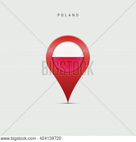 Teardrop Map Marker With Flag Of Poland. Polish Flag Inserted In The Location Map Pin. Vector Illust