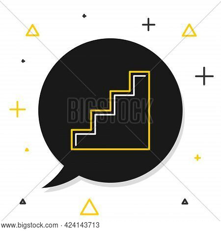 Line Staircase Icon Isolated On White Background. Colorful Outline Concept. Vector