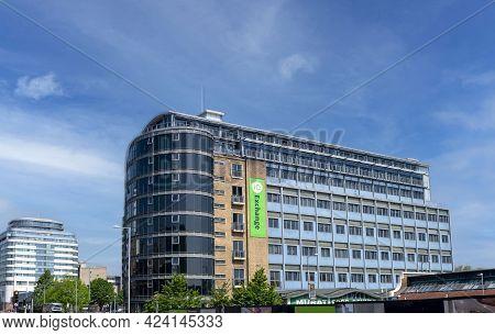 Nottingham, Nottinghamshire, England- June 1, 2021. Iq Exchange Student Accommodation Nottingham, Ex