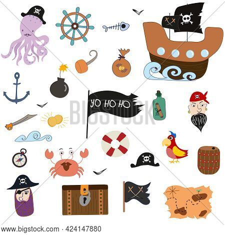 Big Collection Whit Pirate And Sailor Elements