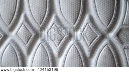 The Outsole Of New White Sneakers. Rubber Sole For Men's Shoes. Sole For Sports And Walking Shoes. T