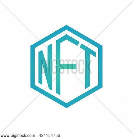 Nft Symbol. Non Fungible Token Icon Vector.