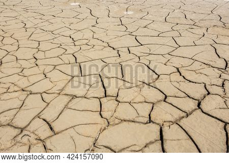 background of dried crack land during drought with good texture