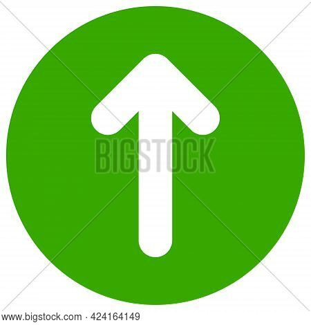 Up Direction Icon With Flat Style. Isolated Raster Up Direction Icon Image, Simple Style.
