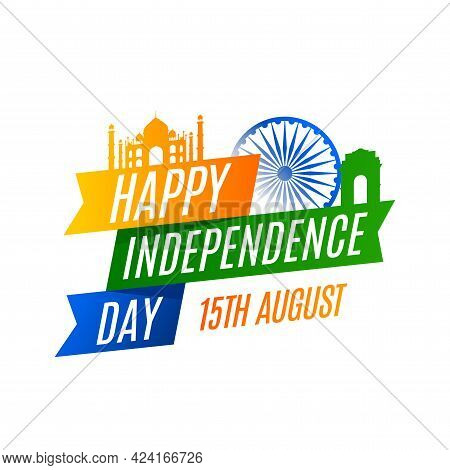 Independence Day In India Celebration On August 15 Illustration