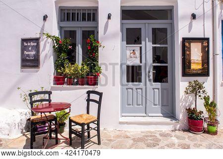Plaka, Milos Island, Greece, 31/05/2019. Entrance To The Art House Of Photography On Studio Where Ph