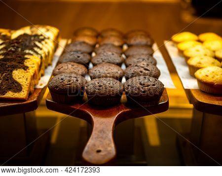 Assorted Mini Muffins On Dessert Buffet