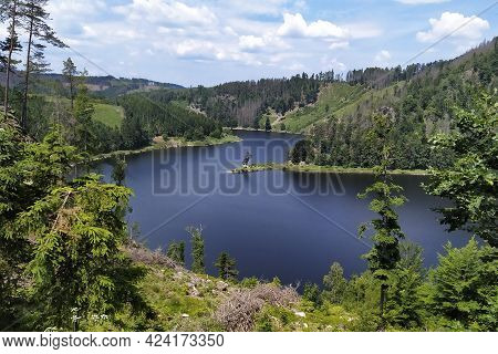 Vir Dam As A Reservoir Of Drinking Water And Hydraulic Power Plant In The Middle Of The Czech Republ