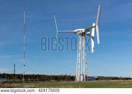 Experimental Wind Turbines With A Vertical Axis Of Rotation Near Huta Zinc And Lead In Miasteczko Sl