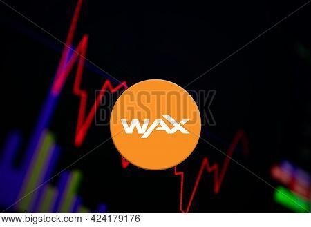 Wax Waxp Cryptocurrency. Wax Coin Growth Chart On The Exchange, Chart