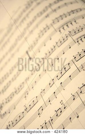 Music Book In Close Up