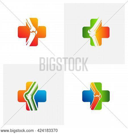 Set Of Health Bone Logo Vector Template, Creative Bone Logo Design Concepts
